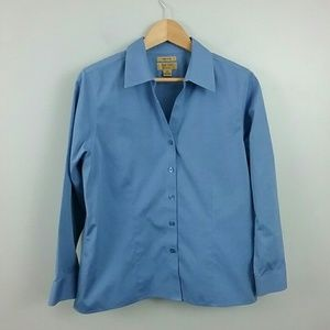 Gold Label Investments Petite//Blue Button Down